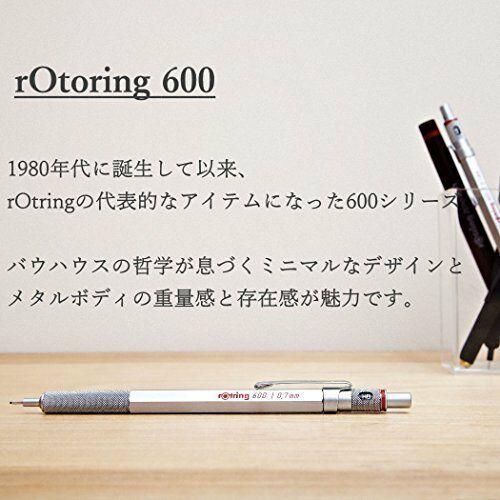 rOtring 600 2mm Drop Mechanical Pencil Matal Black Hexagon Body Holder [NEW]