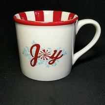 1 (One) Starbucks Holiday Joy Coffee Mug Red And White 14 Oz. 2007 Discontinued - $20.89