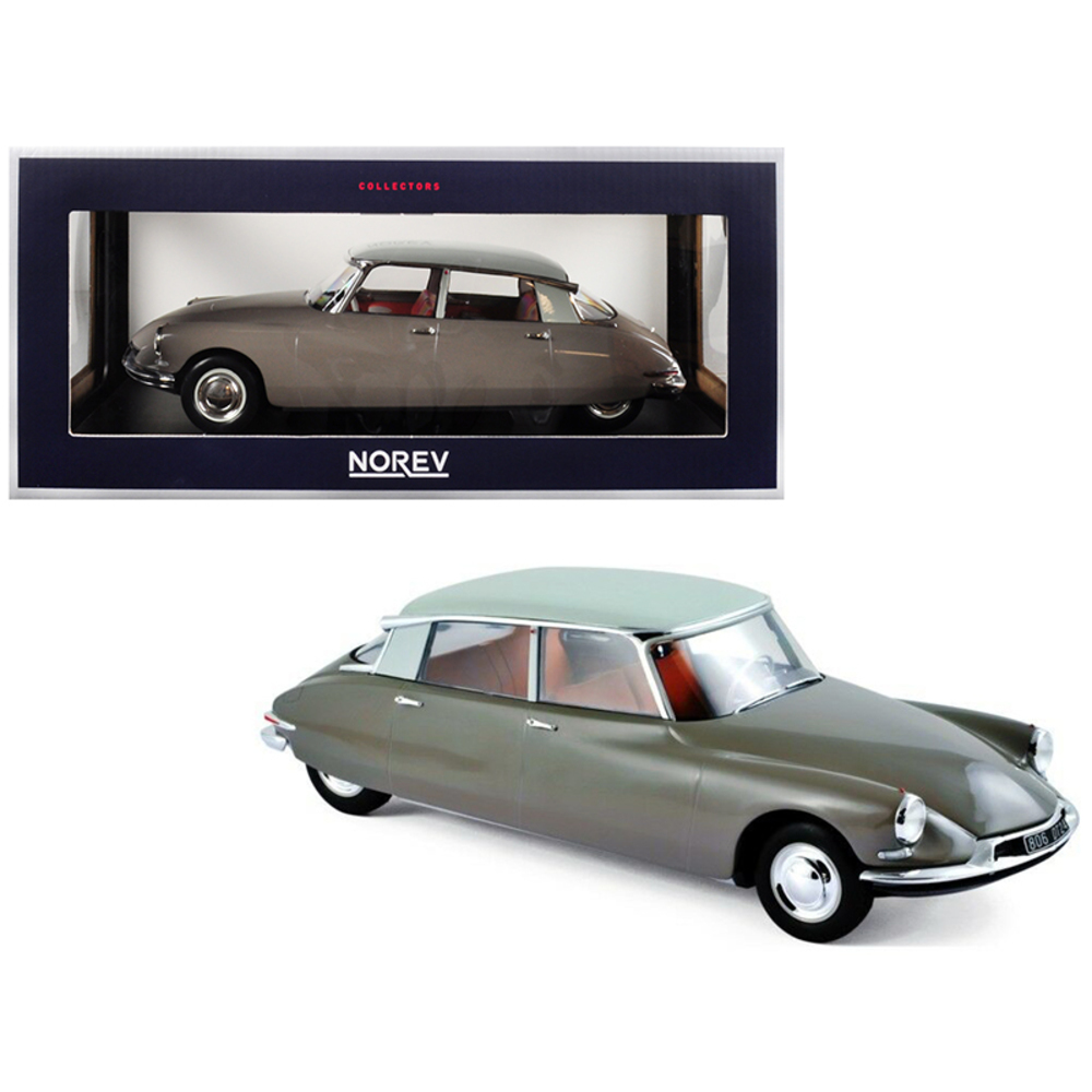 1959 Citroen DS 19 Light Brown with Carrare White Top 1/18 Diecast Model Car by