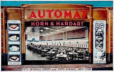 Primary image for Horn and Hardart Automat - New York - 1941 - Vintage Postcard Poster