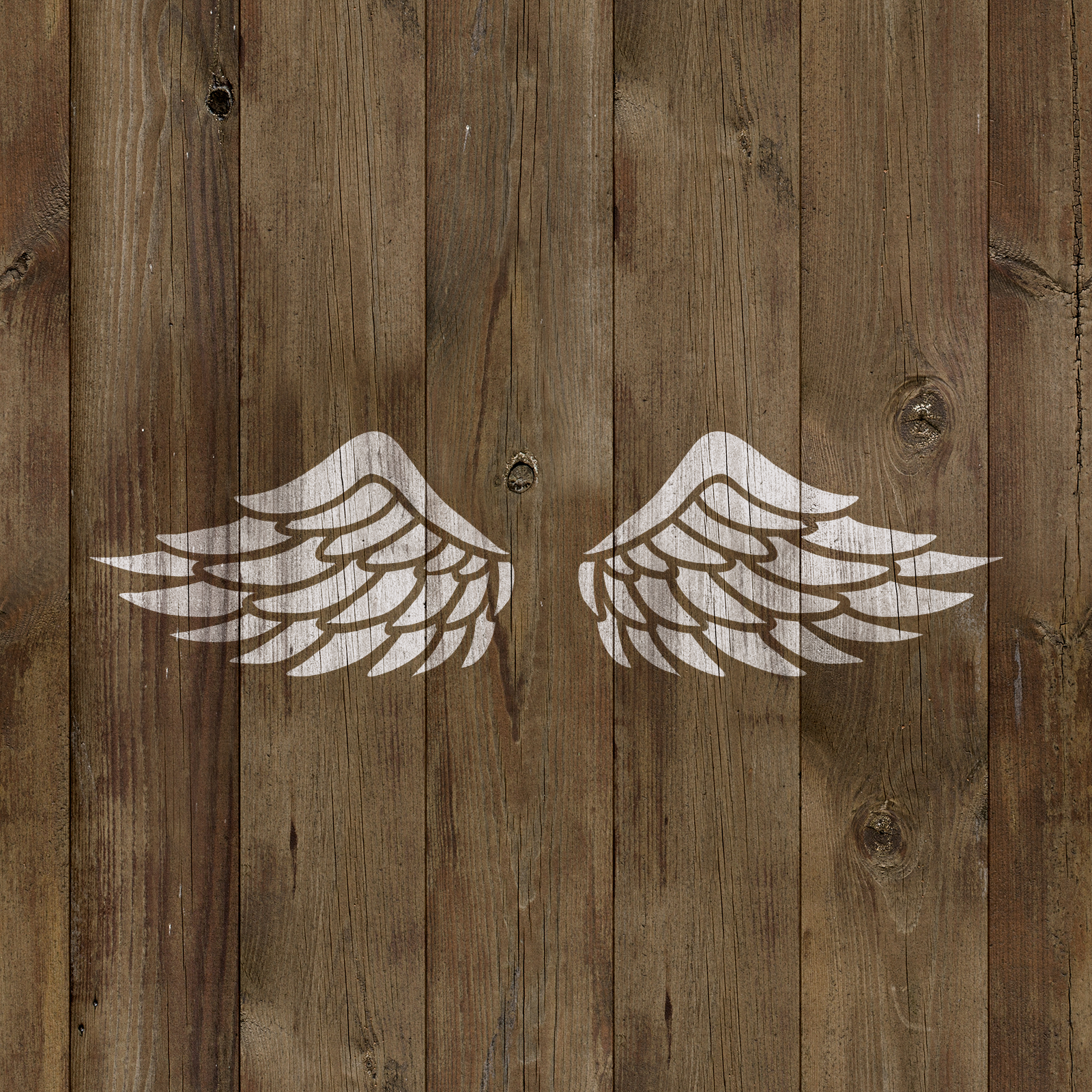 Wings Stencil - Durable & Reusable Mylar Stencils