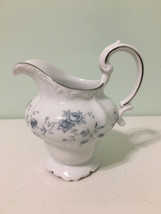 Blue Garland by Johann Haviland Creamer with Silver Trim - $17.81