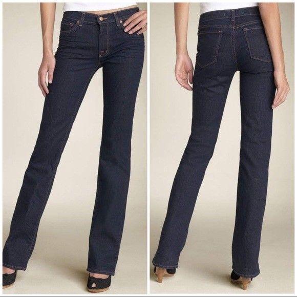 J Brand Jeans Straight Leg Jeans  Dark Wash Style #805 Size 25