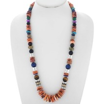 "Navajo Rose, Tommy Singer Spiny Shell Lapis Multi-Gems 28"" Treasure Neck... - $489.00"