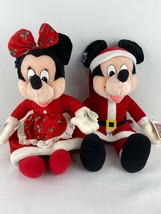 Disney/Applause Mickey & Minnie Mouse as Santa & Mrs. Claus The Enchante... - $15.98