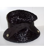 Ladies Black Vintage Straw Hat by Ferncroft - $9.99