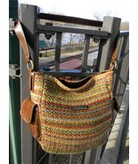 Woven Multi-color Shoulder Handbag Purse - $9.99