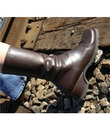 Kenneth Cole Boots Brown low heel Square toe women sz 8.5 - $35.99