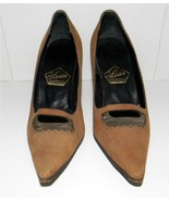 Vintage High Heel Shoe by Leda Camel Tan sz 8 - $11.99