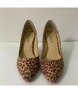Signature Sole By ShoeDazzle Womens Julia Pump Slim Heels Shoes Brown Sl... - $35.63