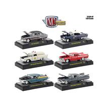 Auto Thentics 6 Piece Set Release 49 IN DISPLAY CASES 1/64 Diecast Model... - $57.35