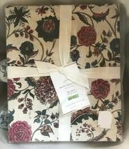 Pottery Barn Amelie Duvet Cover Set Blue Red King 2 Euro Sham Floral Cot... - $199.00