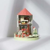 Farmhouse Flower Cottage 3d model Miniature Papercraft paper sculpture G... - $39.60