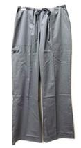 Gray Scrub Pants Large Drawstrng Elastic Waist Medical Uniform Unbranded... - $19.57