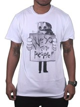 WeSC Uomo We Are Superlative Conspiracy Bianco Protesta Birger Burger T-Shirt