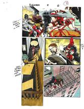 Sexy original 1997 Elektra 9 page 8 Marvel comic book color guide art:De... - $49.99