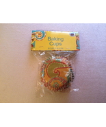NIP - Orange Paisley Cupcake or Muffin Baking Cups - $4.00