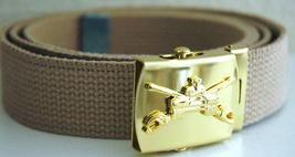 US Army Armored Khaki Belt & Buckle - $14.99