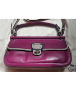 Coach Legacy City east west Willis colorblock berry pink gray leather 19... - $60.00