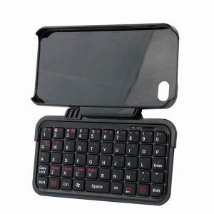 Rotatable Mini Bluetooth 2.0 Keyboard + Case for iPhone 4G