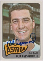 Bob Aspromonte Signed Autographed 1965 Topps Baseball Card - Houston Astros - $14.99