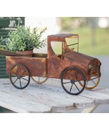 Farmhouse RUSTY PICK UP TRUCK PLANTER Country Primitive Garden Flower Po... - $52.99