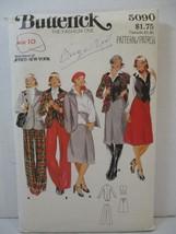 Butterick pattern 5090 Miss Size 10 Vest Jacket Skirt Pants Jones NY Vin... - $12.86