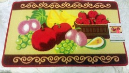 """Printed Nylon Kitchen Rug (18""""x 30"""") Fruits, By St, Rectangle - $16.82"""