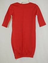 Blanks Boutique Red Long Sleeve Unisex Infant Gown With Hidden Zipper image 2