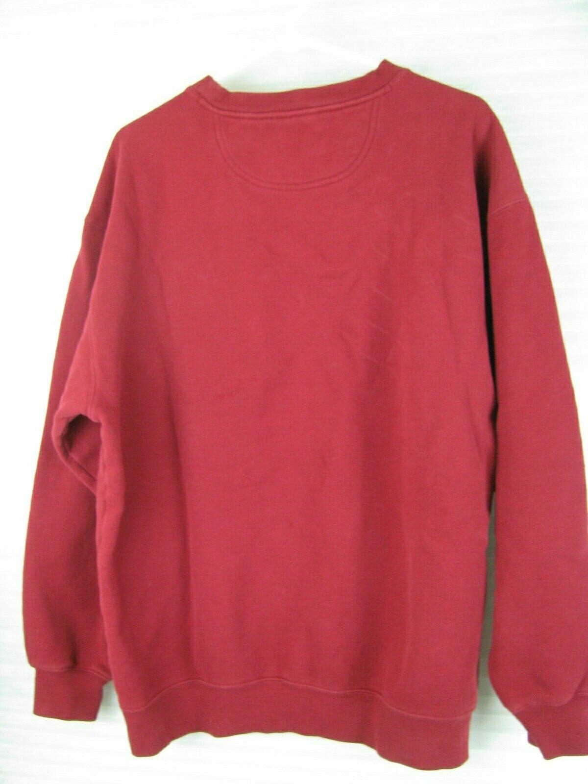 Lee Sueded Dallas Rancho Zabaco Winery Crush Mens Red Crewneck Sweatshirt Large image 4