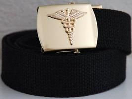 US Army Medical Corps Black Belt & Buckle  - $14.99