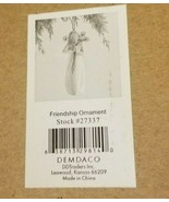 Willow Tree Woman w Flowers FRIENDSHIP ORNAMENT #27337 - $18.57