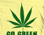 Go green hippie marijuana pot funny woodstock novelty tee for sale graphic tshirt thumb155 crop