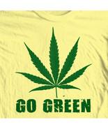 Go green hippie marijuana pot funny woodstock novelty tee for sale graphic tshirt thumbtall