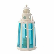 Ocean Blue Lighthouse Candle Lamp  - $20.99