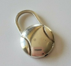 Tiffany Tennis Ball Lock Keychain Key ring in Sterling Silver - $230.00