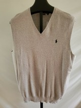 NWT Polo Ralph Lauren Gray Heather Pima cotton Thin Knit Sweater Vest 2XT - $34.64