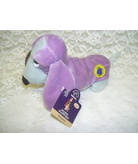 Vintage Lavender and Gray Hush Puppy Benie Basset Hound with Tag Hush Pu... - $18.69