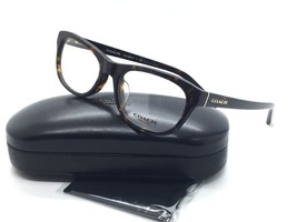 Coach Damen Schildplatt Quadratisch Neu Brille HC 6081F 5120 53 Plastik - $68.73