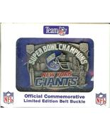 superbowl L XXV new york giants CHAMPIONS BELT BUCKLE - $39.99