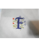 F Initial Letter with Flowers Needlepoint Canvas 2 3/4 x 3 inches - $14.69