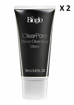 Bioglo Clearpore Deep Cleansing Mask Remove Blackhead & Whitehead 2 X 75... - $648,88 MXN
