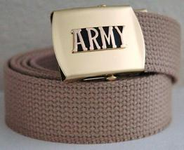 US Army Khaki Belt & Buckle  - $14.99