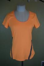Lole Small Cardio T Shirt Orange Short Sleeve Vented Womens Mesh Panels ... - $16.79