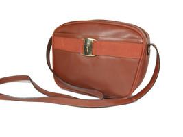 Auth SALVATORE FERRAGAMO Vara Brown Leather Cross-Body Shoulder Bag FS15... - $199.00