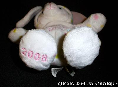 WALMART WHITE MY FIRST BUNNY 1ST EASTER PLUSH DOTS HOOD