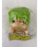 "MITZY Doll Heads 4-4.5"" HEAD HANDS Fibre Craft Green Hair  - $2.97"