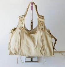 Francesco Biasia Boho Leather Fringe Slouchy Crossbody Shoulder Bag Satchel XL image 1