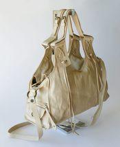 Francesco Biasia Boho Leather Fringe Slouchy Crossbody Shoulder Bag Satchel XL image 3
