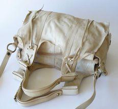 Francesco Biasia Boho Leather Fringe Slouchy Crossbody Shoulder Bag Satchel XL image 5